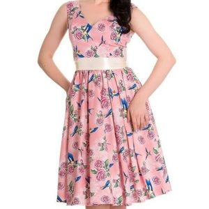Hell Bunny Floral Swing Dress